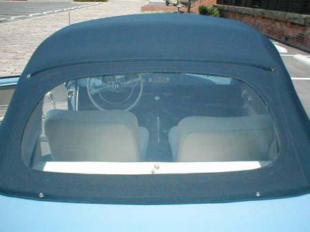 Convertible top and rear window