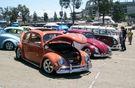 1956 Beetle Ragtop - at car show